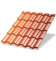Металлочерепица МП Монтекристо-XL (AGNETA-20-Copper\Copper-0.5)