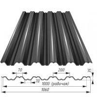 Профнастил НС-60-0.5-930х6000 оцинкованный