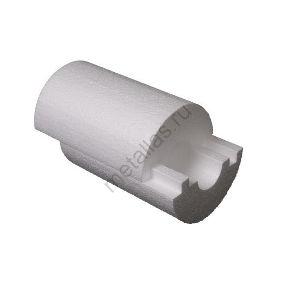 Утеплитель «Скорлупа» из пенопласта для труб Ф110х100х1000 мм