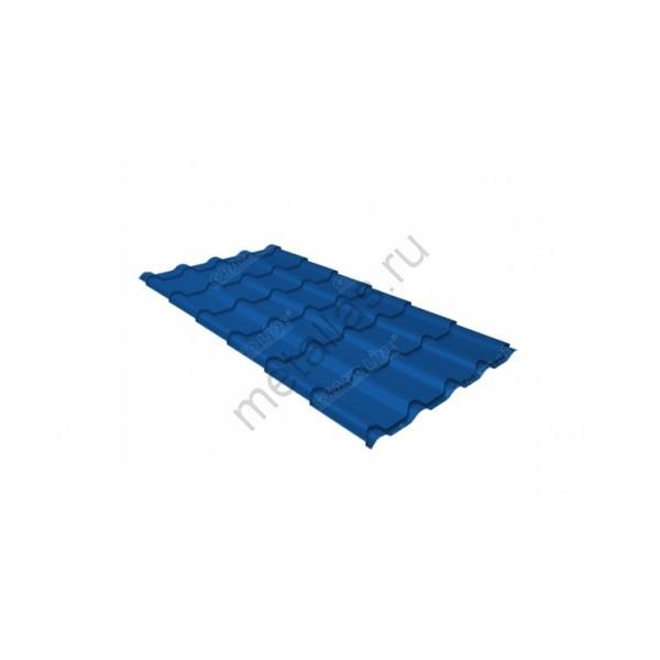 Металлочерепица камея 0,45 PE RAL 5005 сигнальный синий