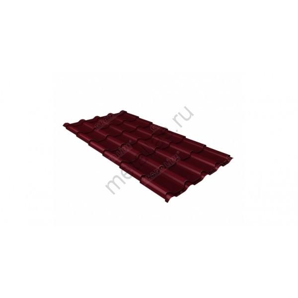 Металлочерепица камея GL 0,5 Polydexter RAL 3005 красное вино