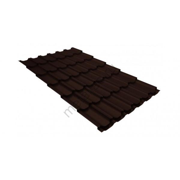 Металлочерепица квинта плюс 0,5 GreenCoat Pural RR 887 шоколадно-коричневый