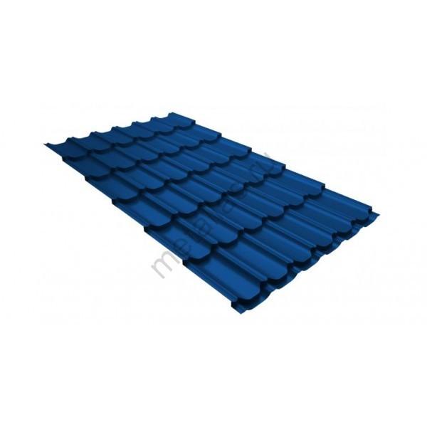 Металлочерепица квинта плюс GL 0,5 Satin RAL 5005 сигнальный синий