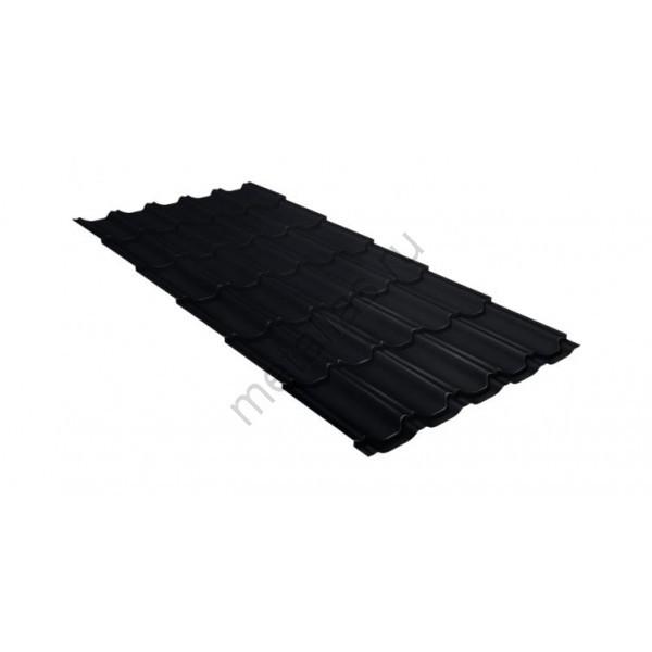 Металлочерепица квинта плюс GL 0,5 Velur20 RAL 9005 черный