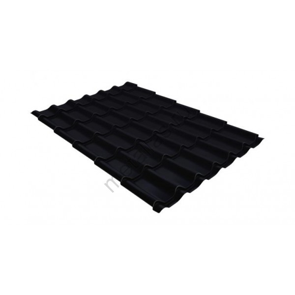 Металлочерепица классик 0,5 Стальной бархат RAL 9005 черный