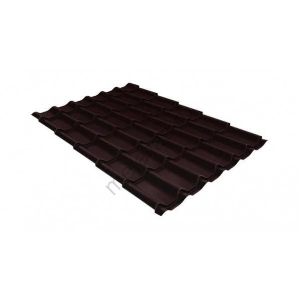 Металлочерепица классик 0,5 Satin RAL 8017 шоколад