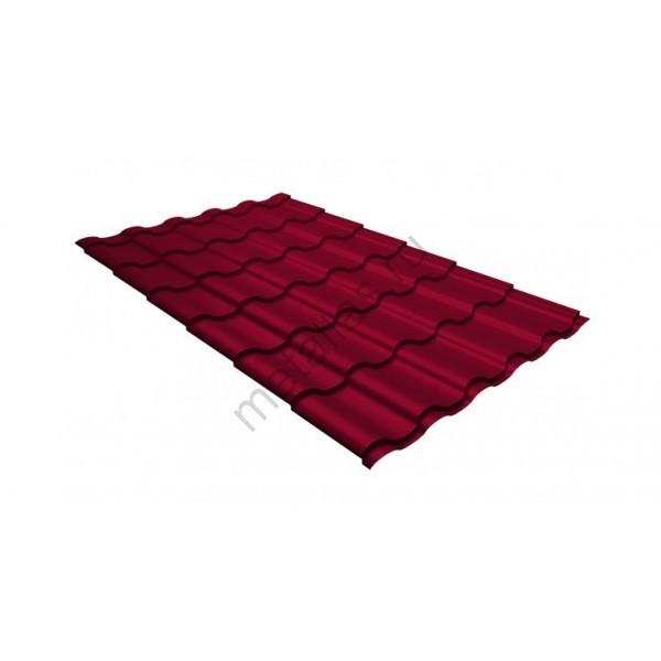 Металлочерепица кредо 0,45 PE RAL 3003 рубиново-красный