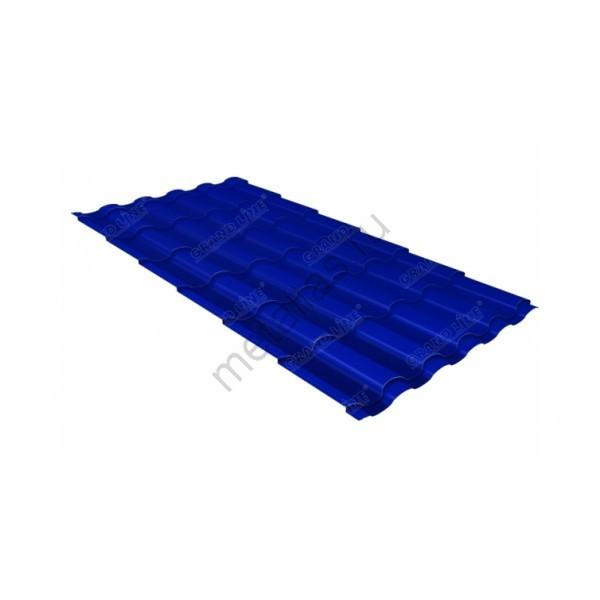 Металлочерепица кредо 0,45 PE RAL 5002 ультрамариново-синий