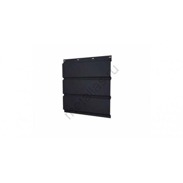 Софит металлический без перфорации 0,45 Drap с пленкой RAL 9005 черный